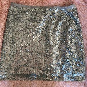 Glamorous Jcrew matte sequin mini skirt